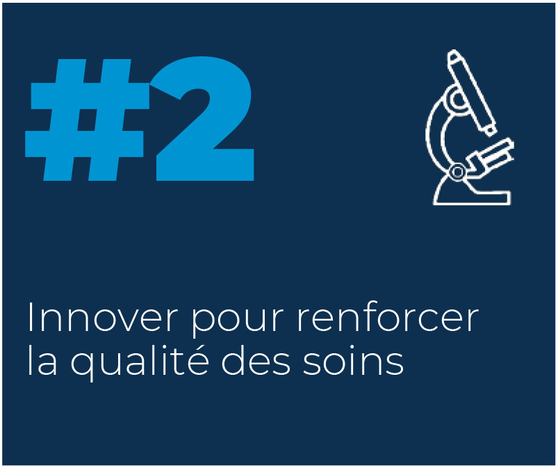 2. Innover pour renforcer la qualité des soins