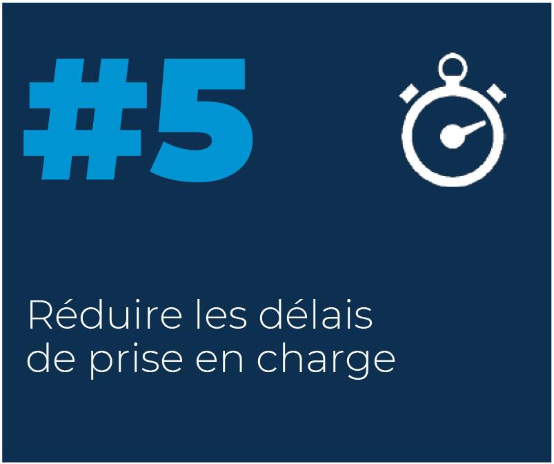 5. Réduire les délais de prise en charge