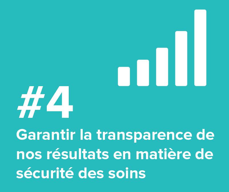 4. Garantir la transparence de nos résultats en matière de sécurité des soins